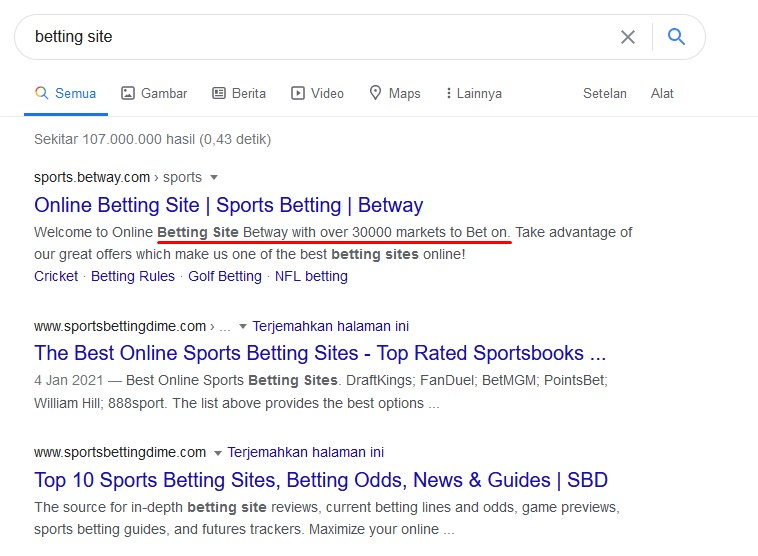 SEO Betting Site